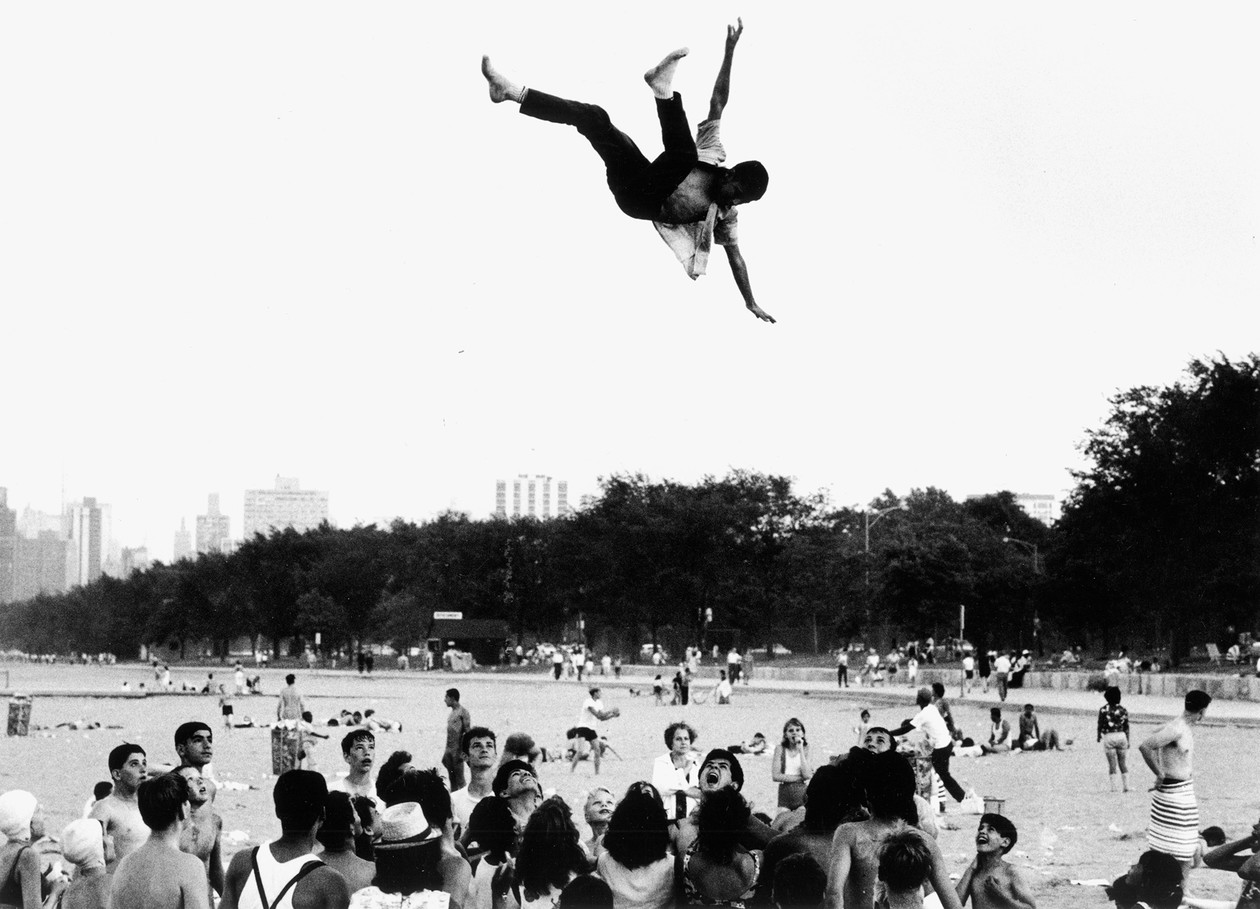 From The Age of Adolescence (male youth being tossed in air) (1959-64) by Joseph Sterling