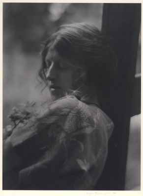 Clare and Floating Seeds (c. 1910) by Imogen Cunningham