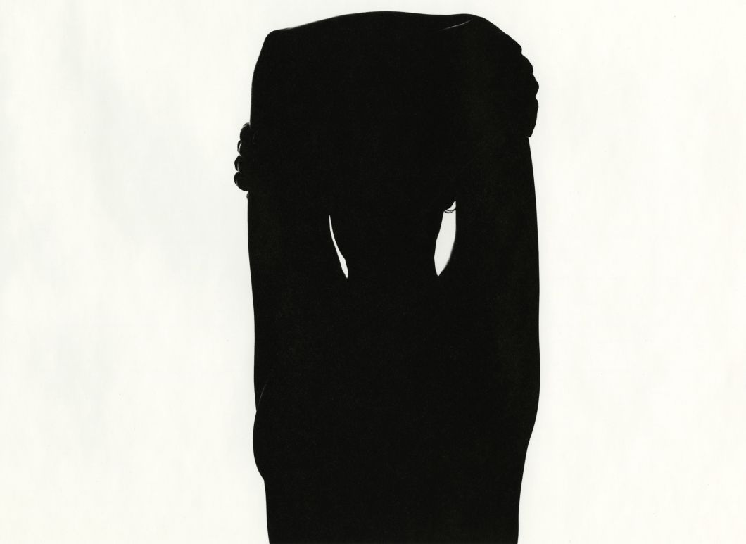 Eleanor (silhouette) (1948) by Harry Callahan