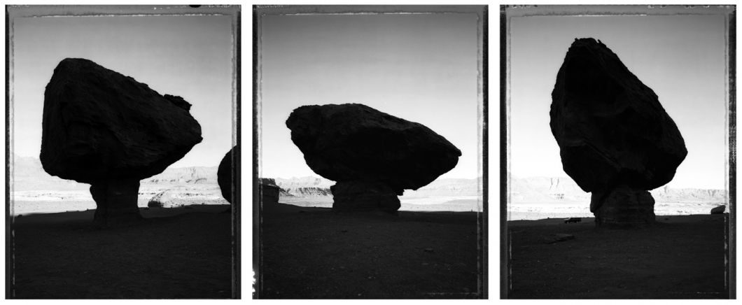Balancing rocks: road to Lee's Ferry, Marble Canyon, 5/10/86 (1986) by Mark Klett