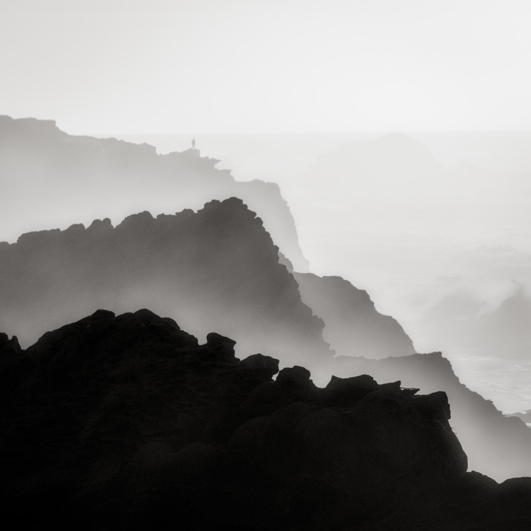 Figure and Coastal Mist, Oregon (2018) by Jeffrey Conley