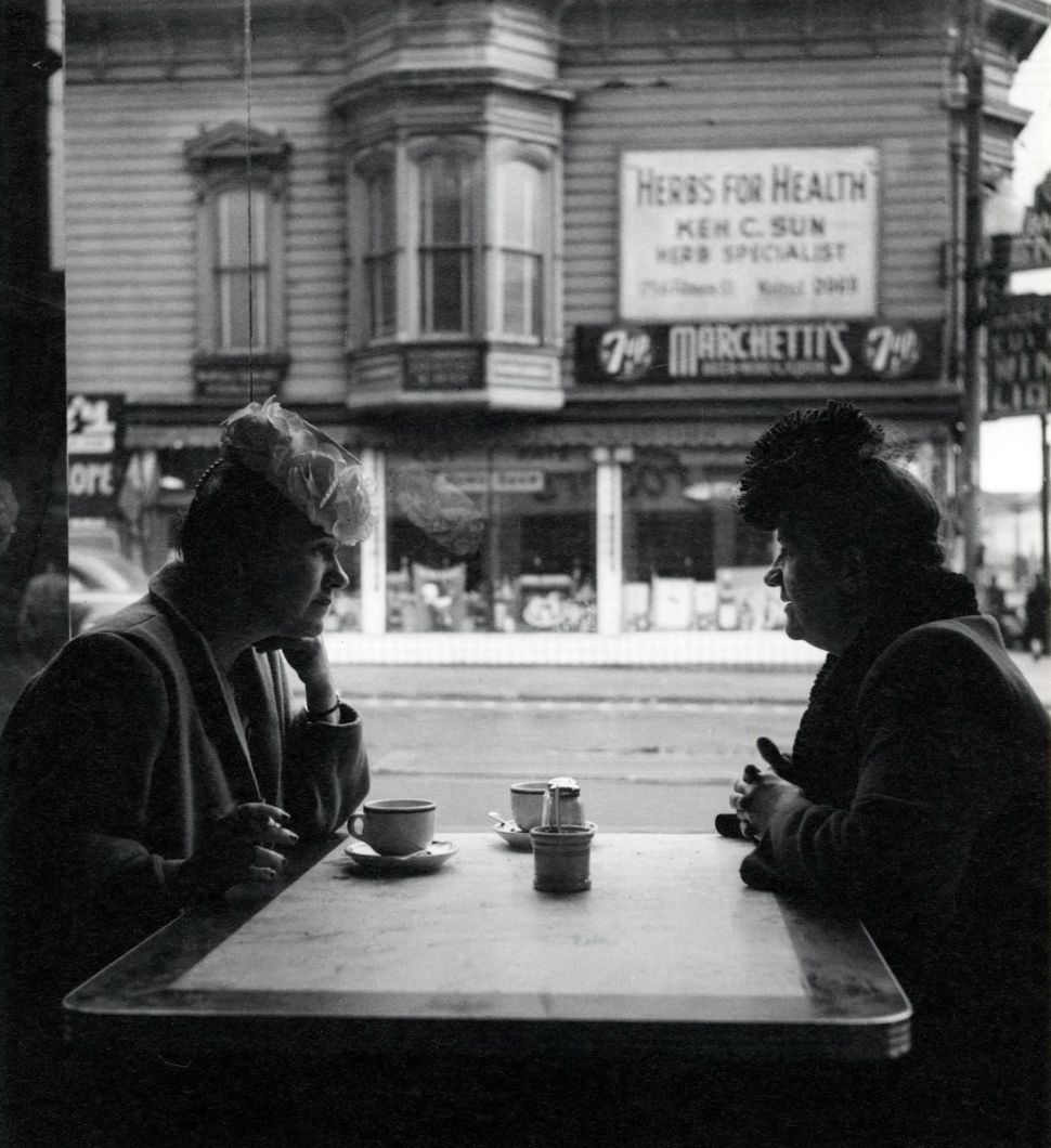 Tea at Fosters (before 1950) by Imogen Cunningham