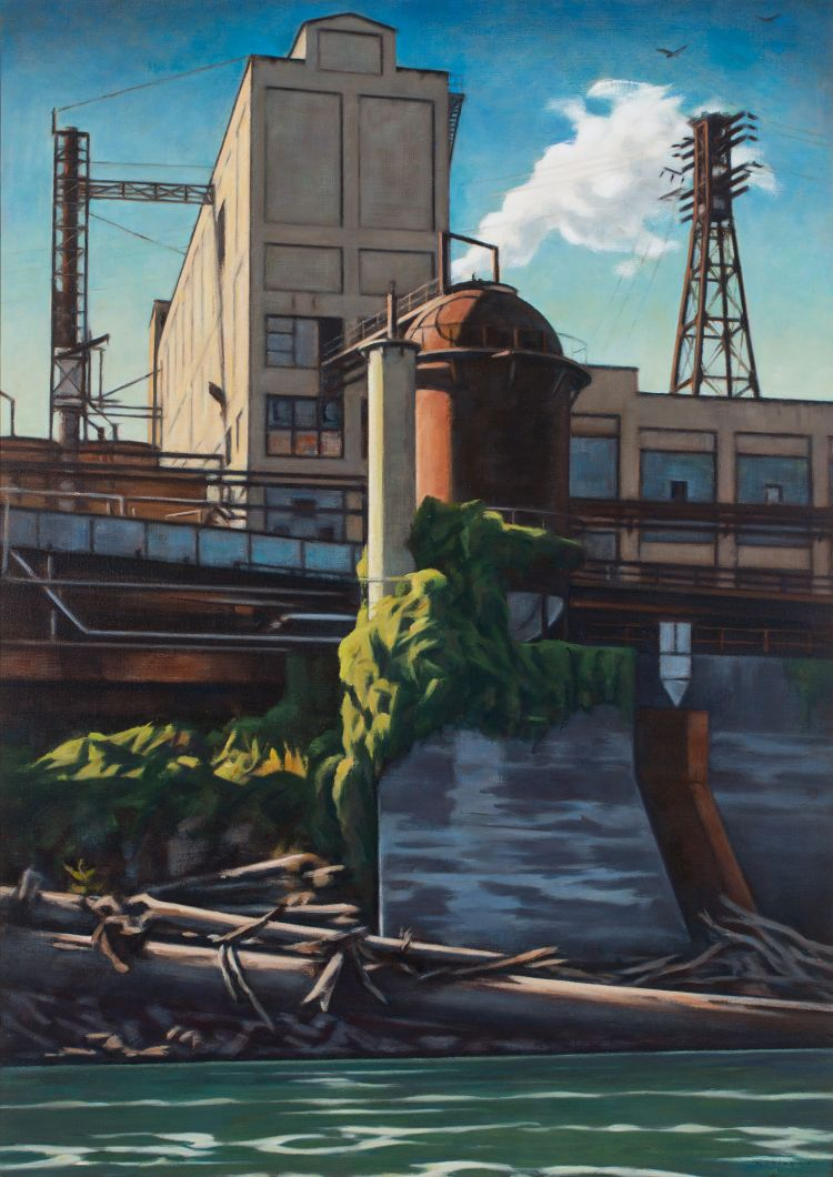Mill and Driftwood (2019) by Daniel Robinson