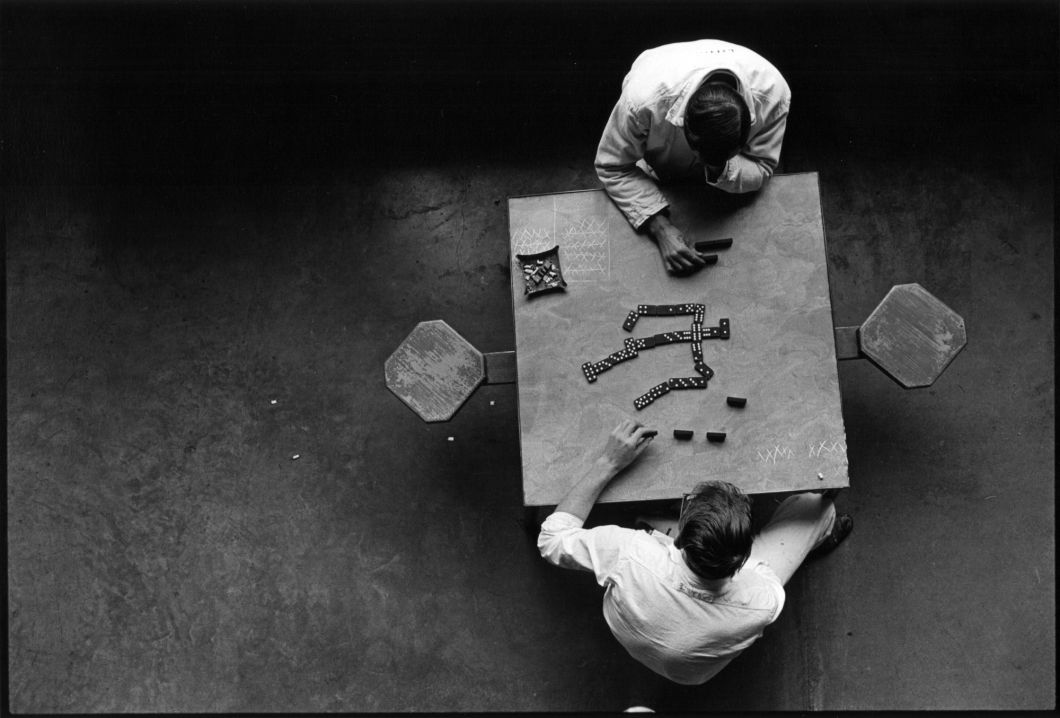 Cell block table (Dominoes) (1967-1968) by Danny Lyon