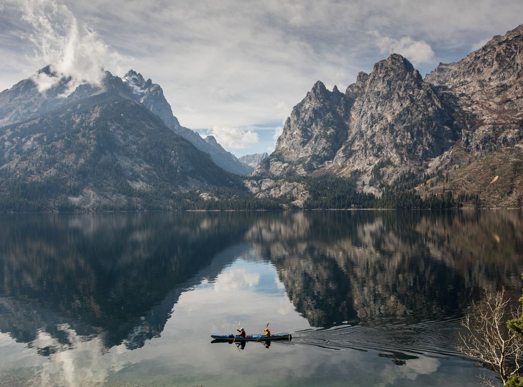 Jenny Lake Kayakers (2016) by Corey Arnold