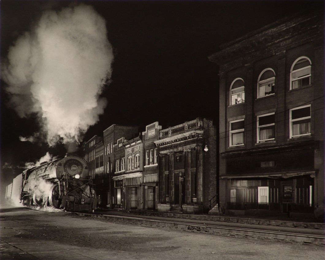 Main Line on Main Street, North Fork, West Virginia (1958) by O. Winston Link