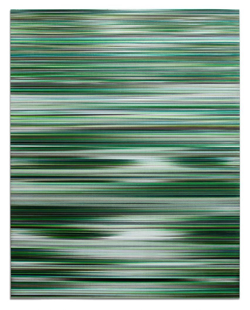 Waves in RGB (G) (2017) by John Whitten