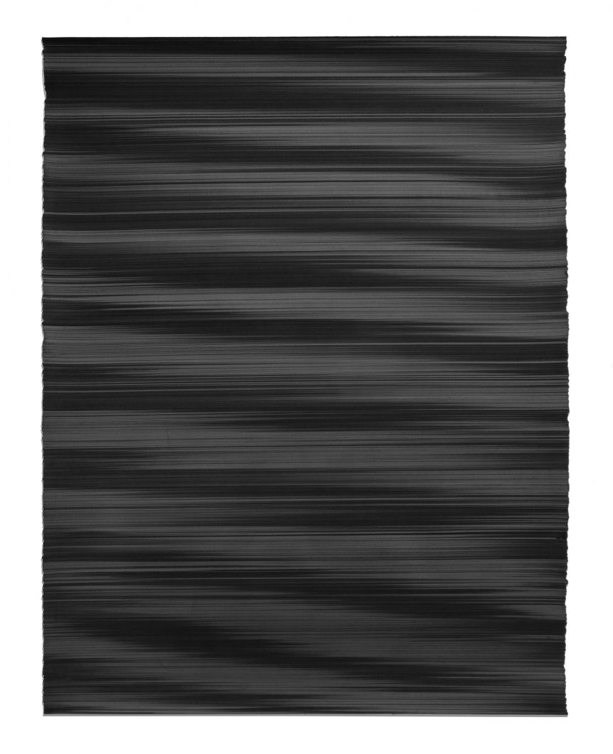 Waves in black No. 1 (2018) by John Whitten