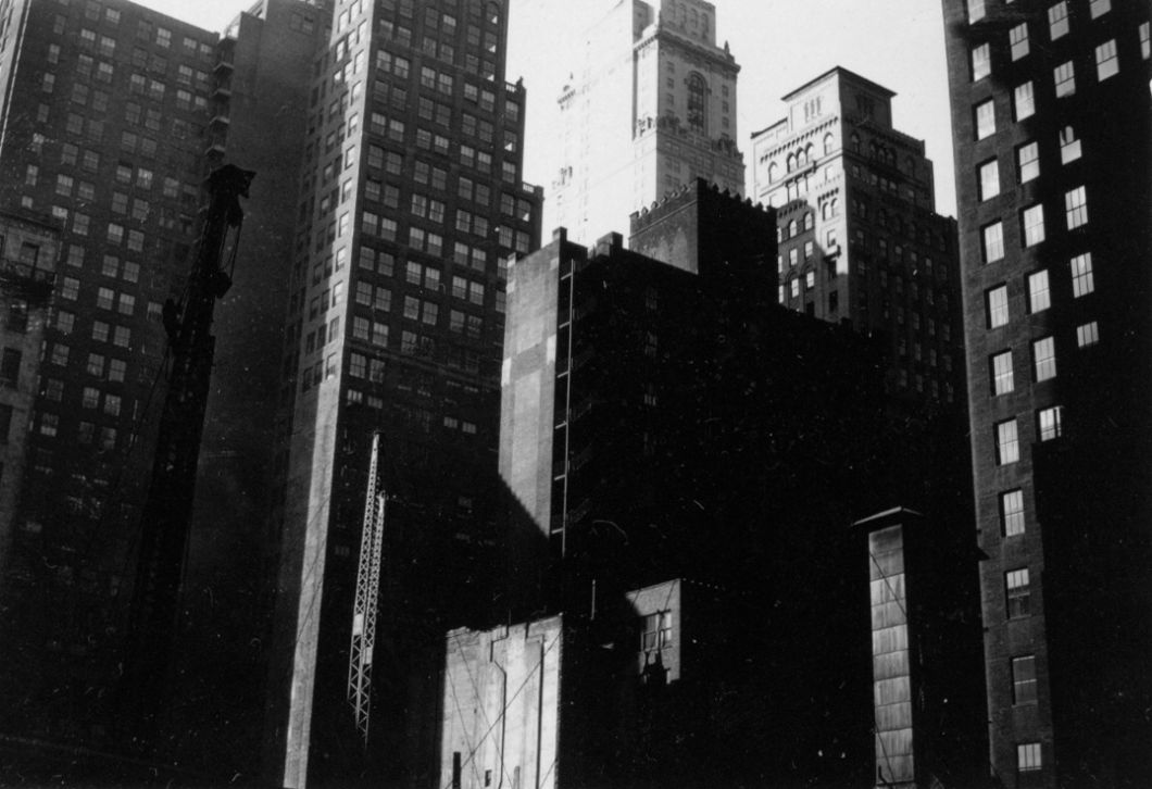 Construction of the Lincoln Building (now One Grand Central Place), 42nd St. and Park Ave., NYC (c. 1929-1930) by Walker Evans