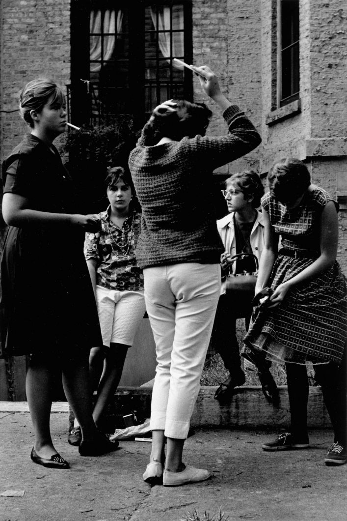From The Age of Adolescence (group of female youths) (1959) by Joseph Sterling