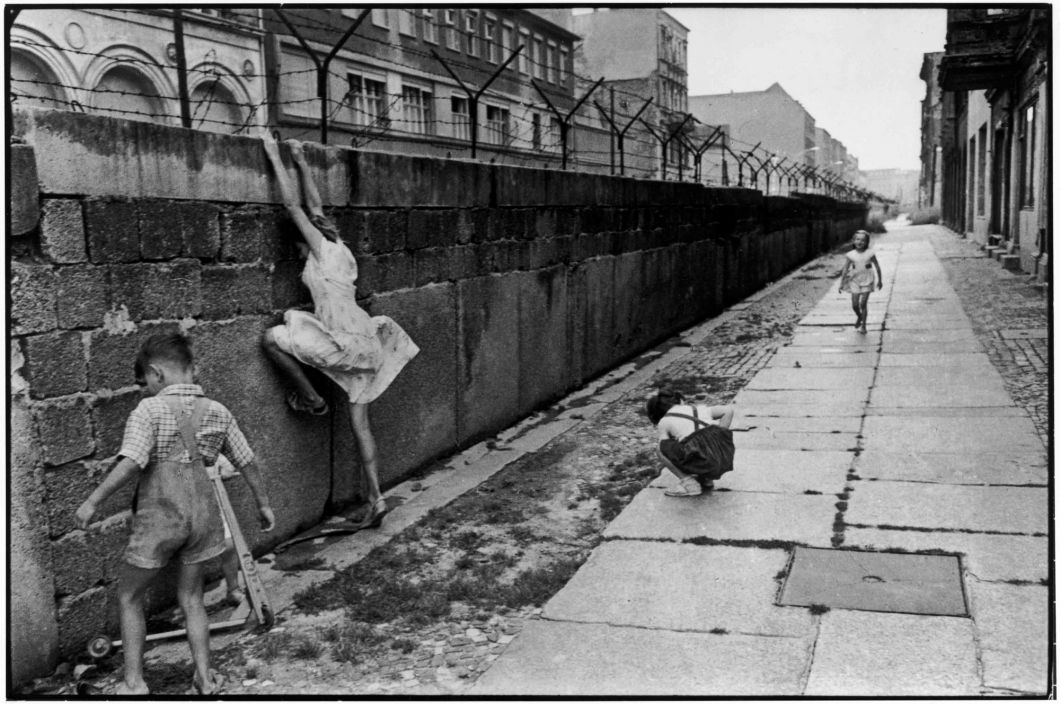 The Berlin Wall, West Berlin, West Germany (1962) by Henri Cartier-Bresson