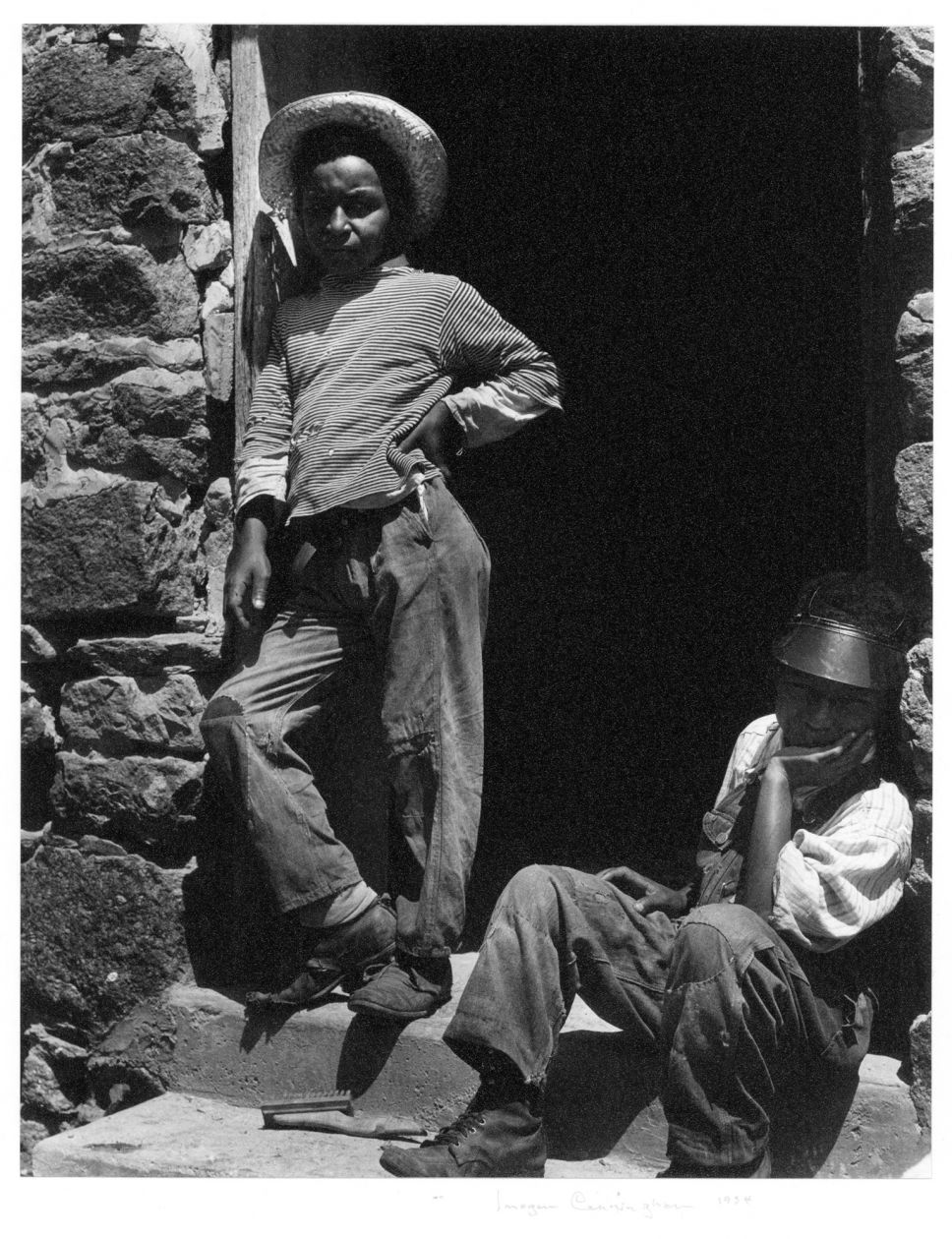 Rebecca's Boys at Hume, Virginia (1934) by Imogen Cunningham