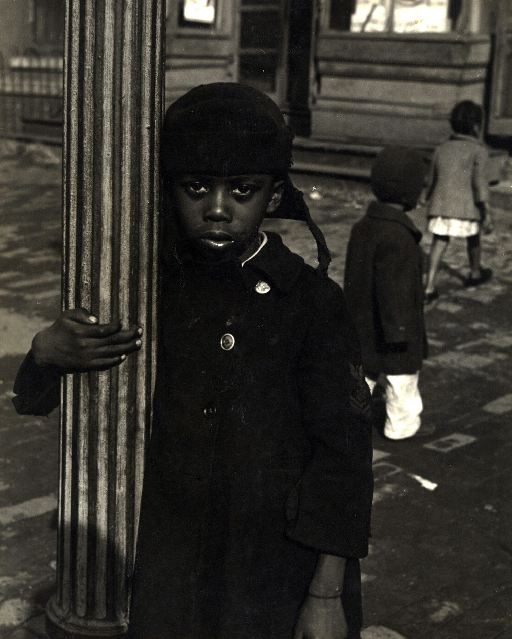 Black Child by Pole, Washington, DC (1945) by Godfrey Frankel