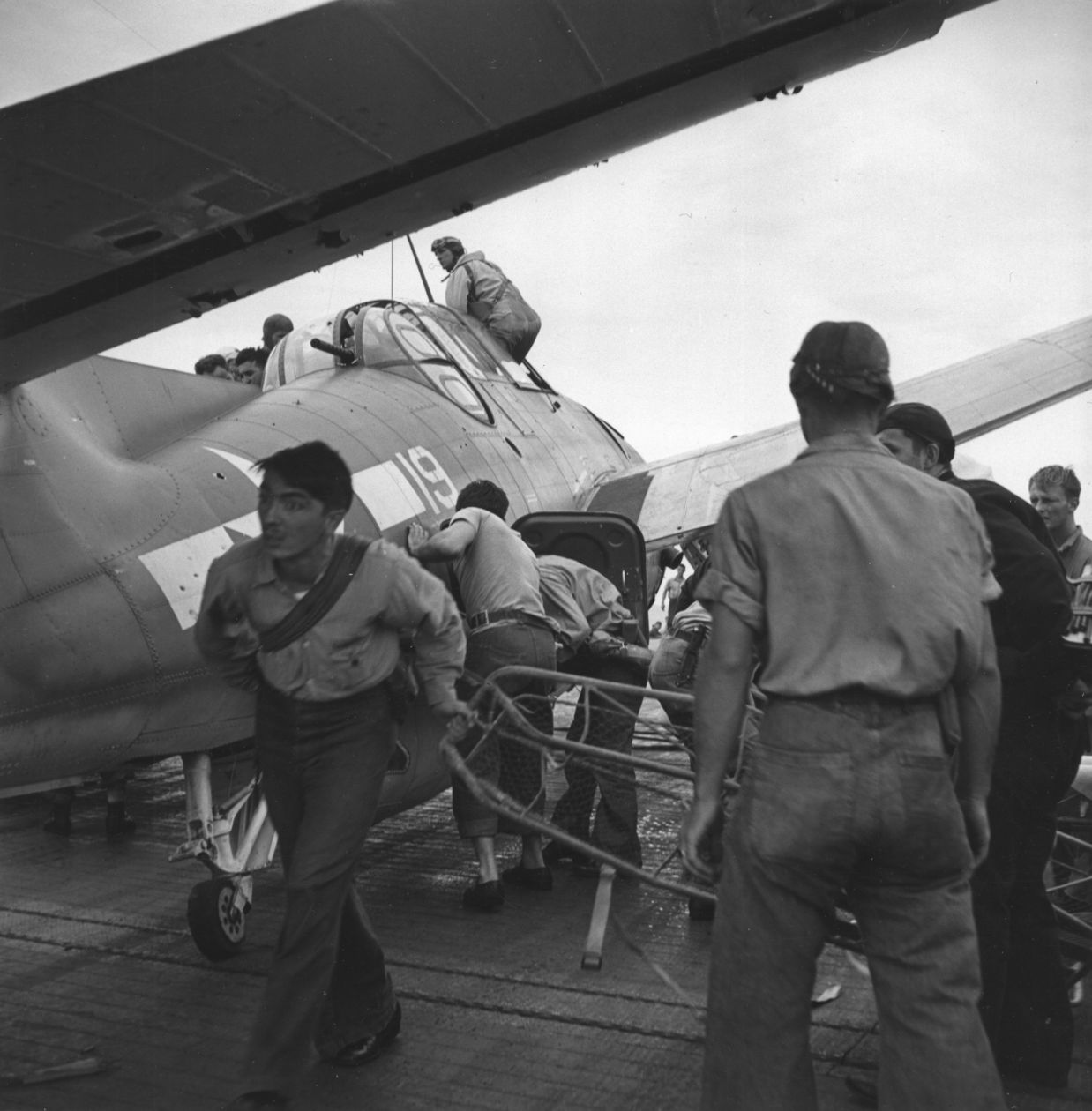 Pacific Theater, WWII (preparing for battle) (1942-45) by Wayne Miller