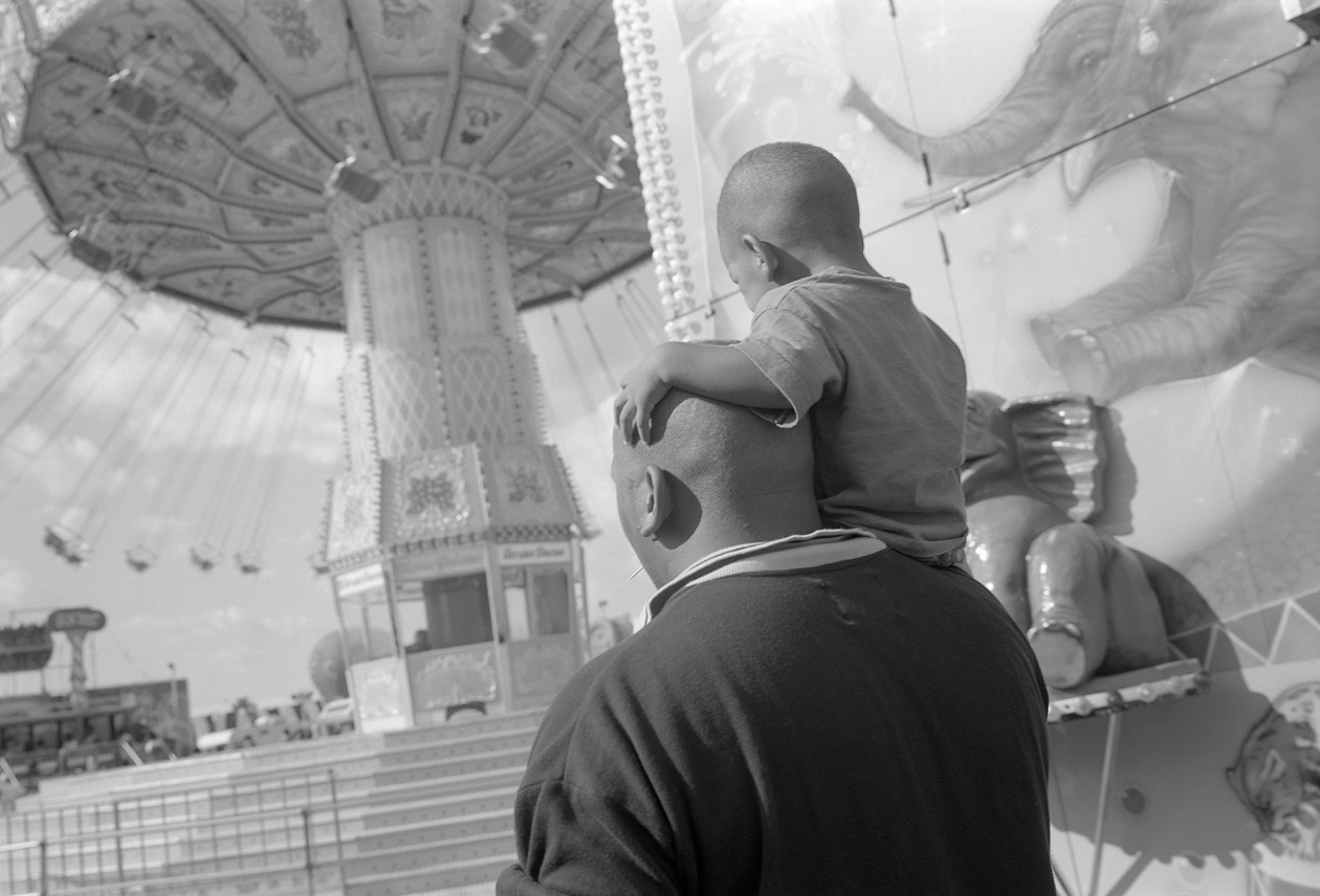 Untitled (father and son), from Carnival (1995) by Mark Steinmetz
