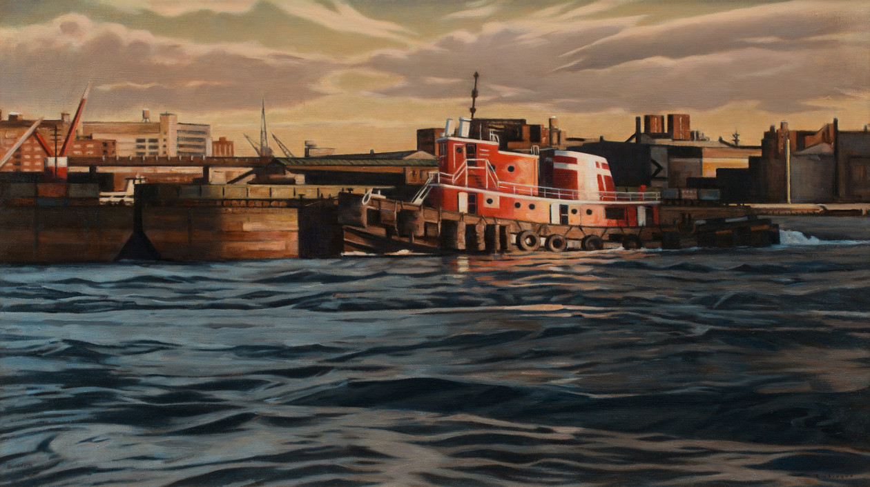 Tug and Barges (2019) by Daniel Robinson