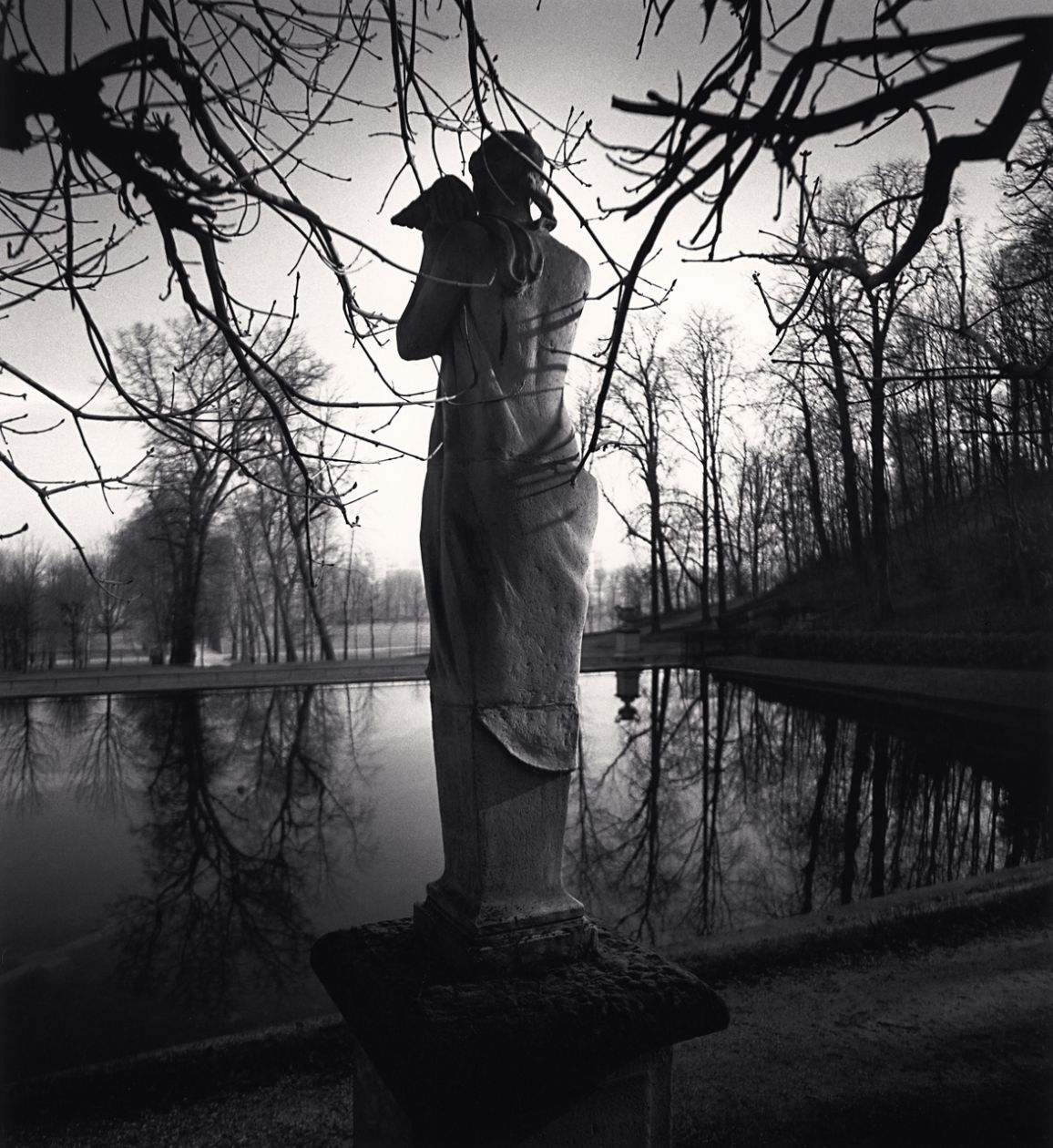 Contemplation, Parc Saint Cloud, France (1996) by Michael Kenna