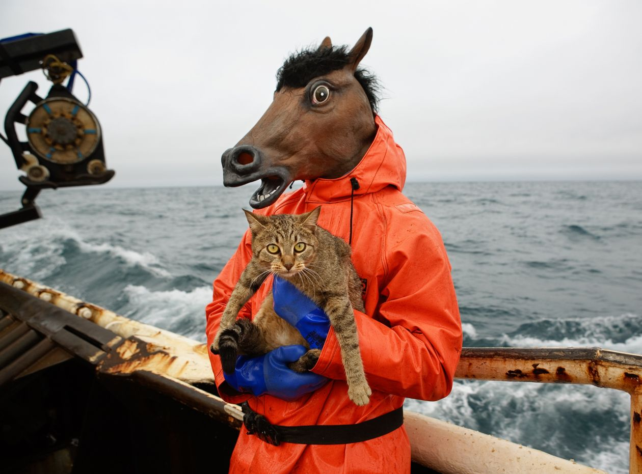 Kitty and Horse Fisherman (2006) by Corey Arnold