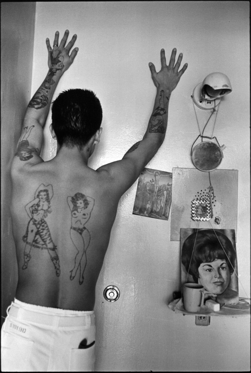Prison tattoos (1967-1968) by Danny Lyon