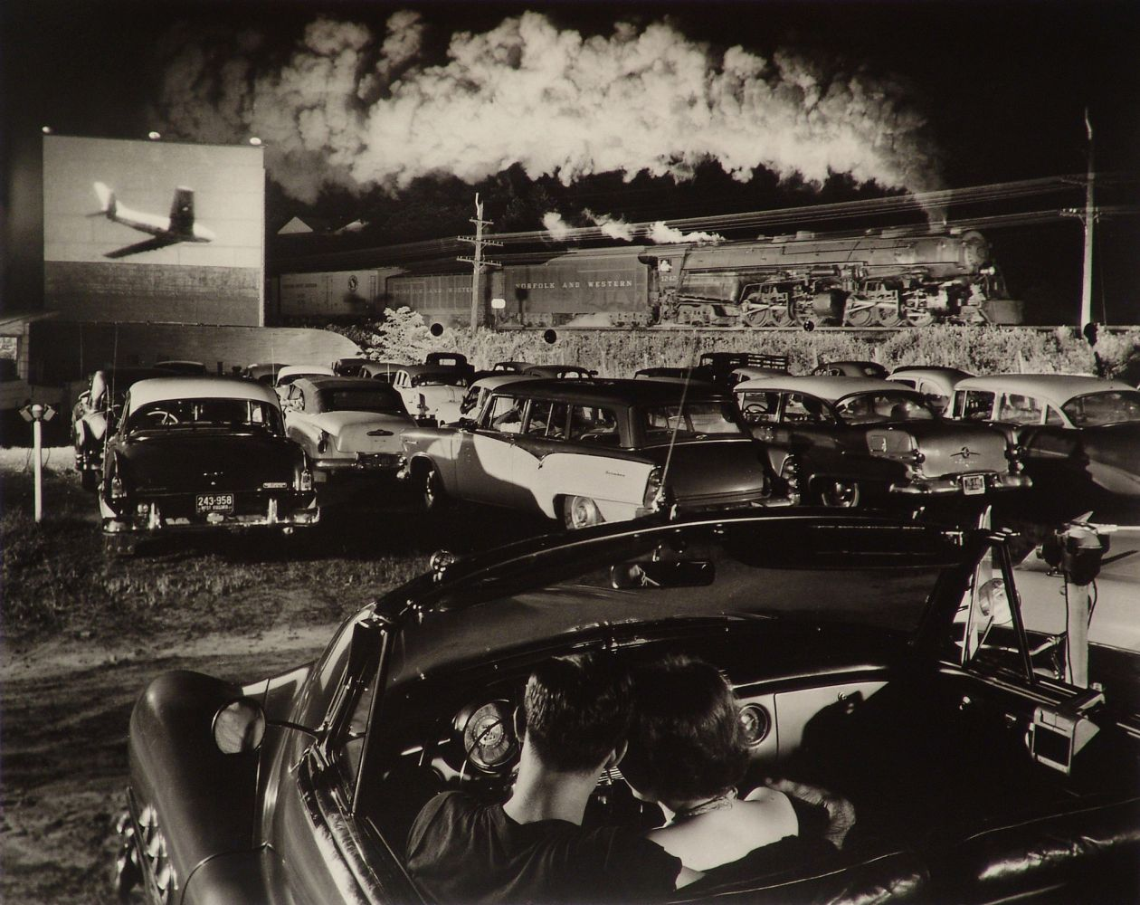 Hot Shot eastbound at Iaeger, West Virginia (1956) by O. Winston Link