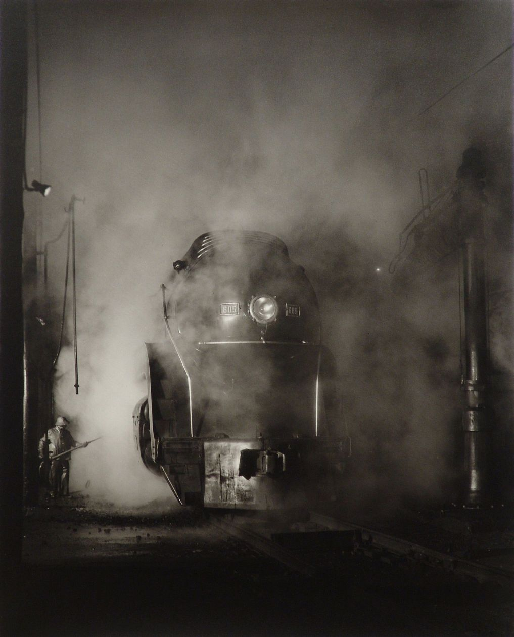 Washing J Class 605, Shaffer's Crossing, Roanoke, Virginia (1955) by O. Winston Link