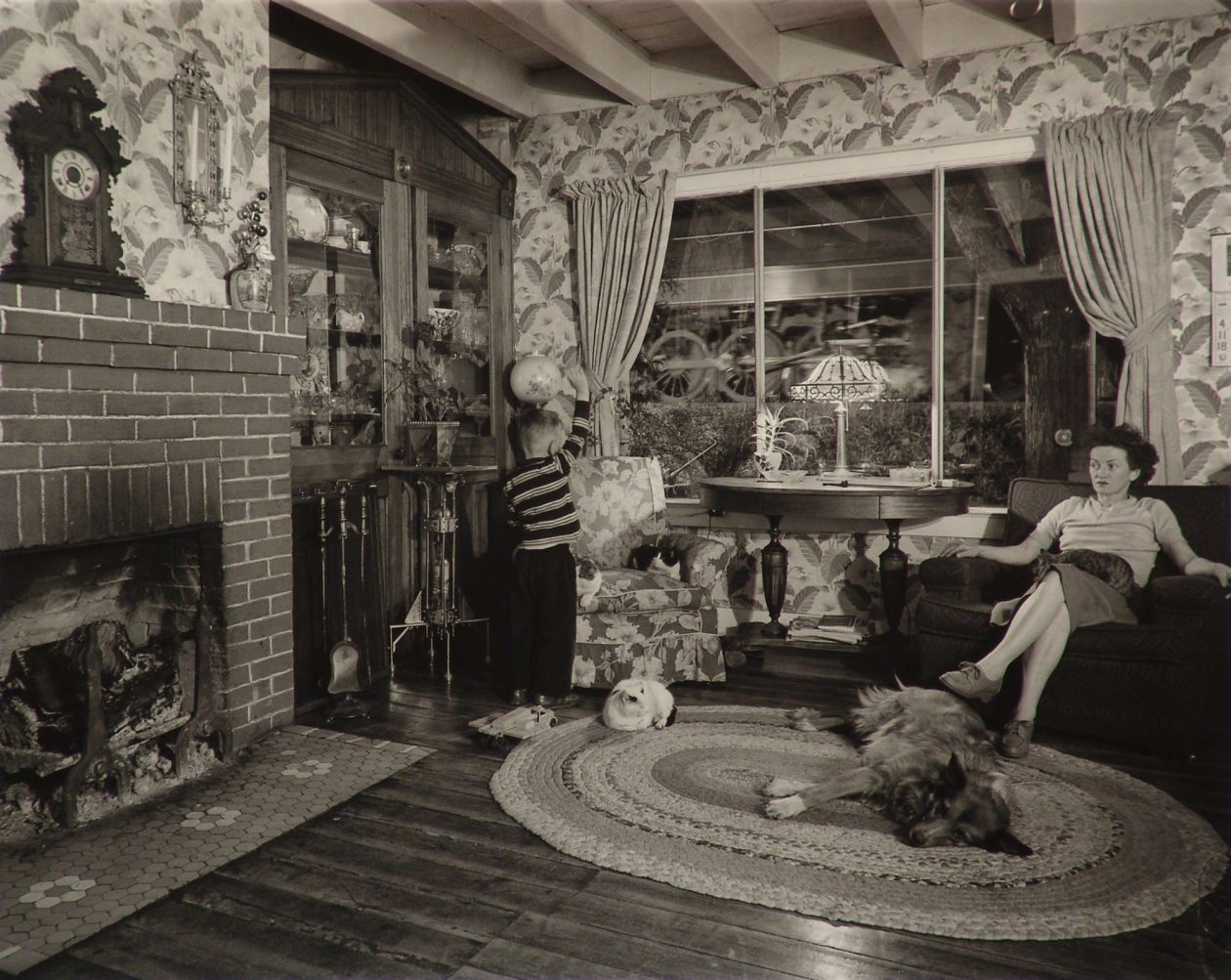 Living room on the tracks, Lithia, Virginia (1955) by O. Winston Link