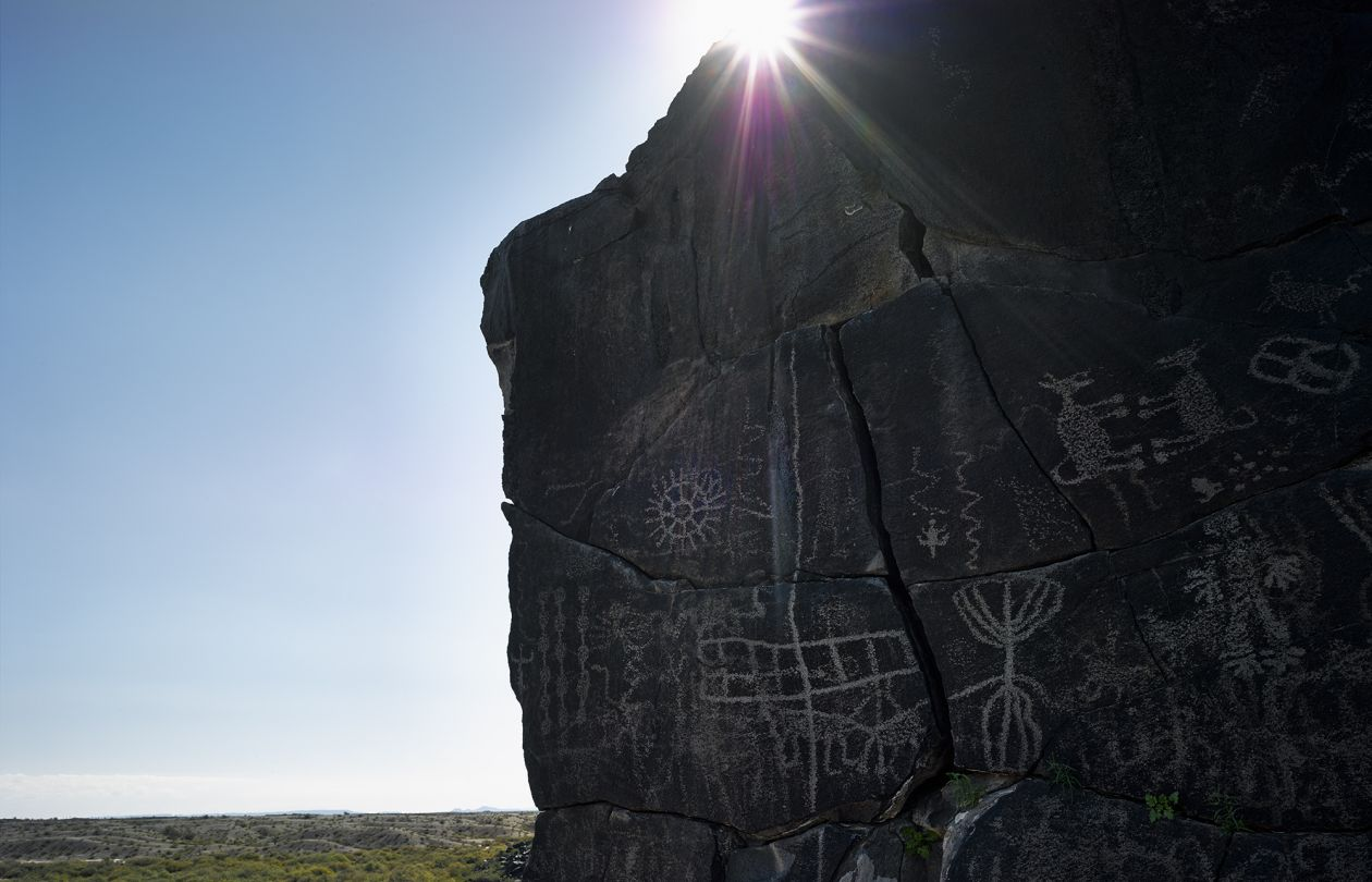 Petroglyphs near Sears Point, Gila River (2014) by Mark Klett