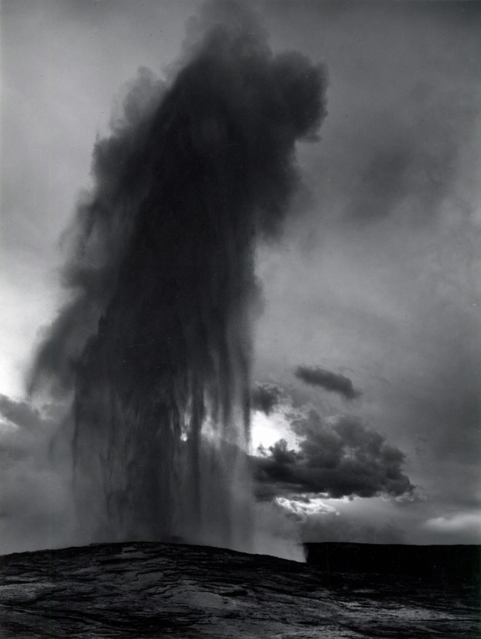 Old Faithful, Yellowstone (1950) by Ansel Adams