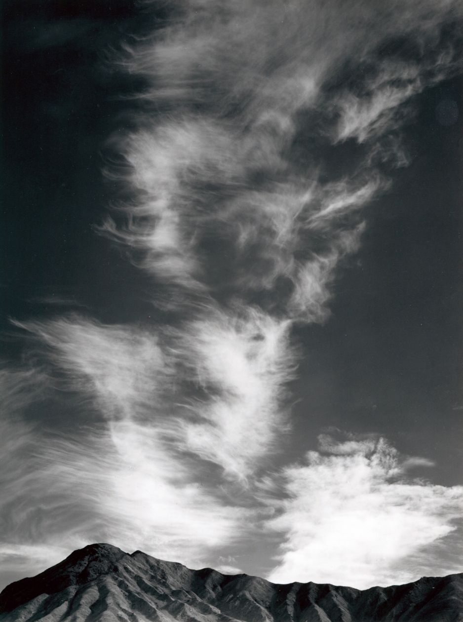 Clouds above Golden Canyon, Death Valley, California (1946) by Ansel Adams