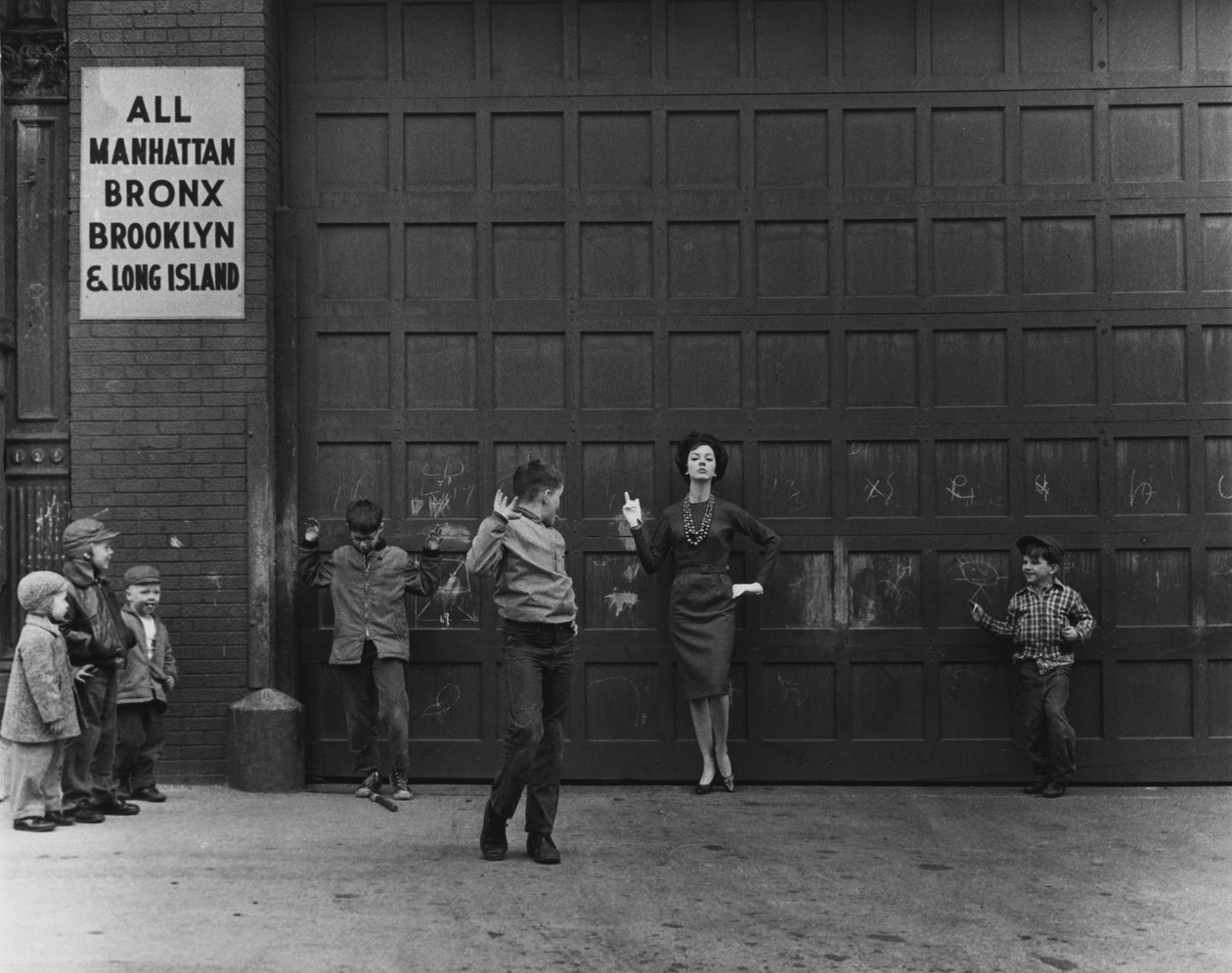 Judy and the Boys, New York City (1961) by Lida Moser