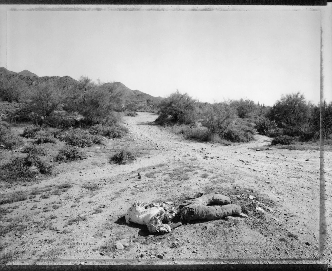 Target dummy, east of Scottsdale, Arizona 3/30/85 (1985) by Mark Klett